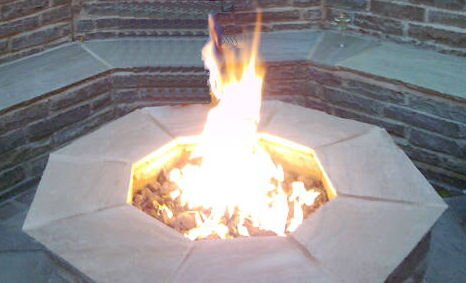 brightstar, brûleur à gaz Fire Pit, octogonale, 18kW, gaz GPL