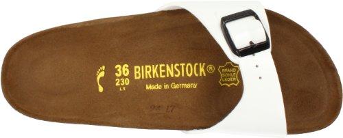 Birkenstock  Madrid Birko-Flor, Mules femme Blanc