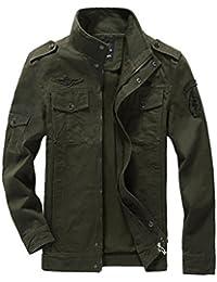 Mallimoda Uomo Primavera Militare Cappotti Trench Zipper Cappotto Slim Fit  Casuale c897cccff32