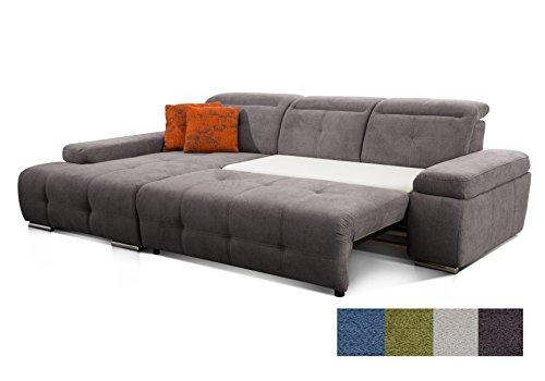 Cavadore Polsterecke Mistrel mit Longchair XL links / Eck-Couch mit Schlaffunktion / Bettfunktion /...