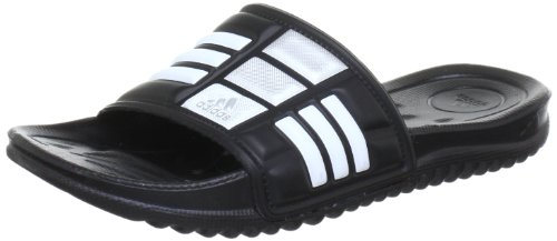 adidas Performance Mungo QD, Unisex-Erwachsene Dusch- & Badeschuhe, Schwarz (Black 1/White/Metallic Silver), 40.5 EU (7 Erwachsene UK)