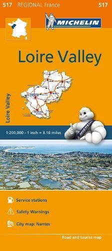 Pays de la Loire - Michelin Regional Map 517 (Michelin Regional France, Band 517) (Michelin Maps Deutschland)