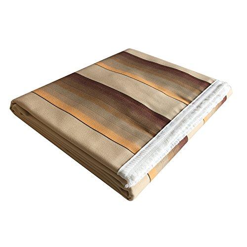 Tenda da sole con frangia e anelli brevettati in acrilico dralon a fasce o strisce misure 140x250 cm - 140x300 cm - diverse varianti colore (140x300, sfumato marrone 220)