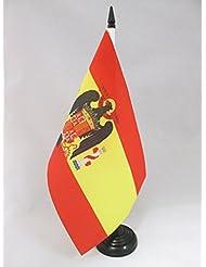 BANDERA de MESA de ESPAÑA DE FRANCO 1945-1977 21x14cm - BANDERINA de DESPACHO FRANQUISTA ESPAÑOLA 14 x 21 cm - AZ FLAG