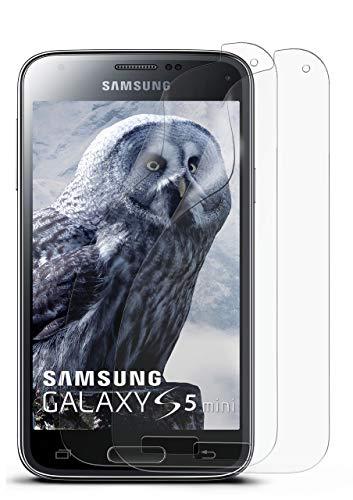 2X Samsung Galaxy S5 Mini | Schutzfolie Matt Display Schutz [Anti-Reflex] Screen Protector Fingerprint Handy-Folie Matte Displayschutz-Folie für Samsung Galaxy S5 Mini Displayfolie (Protector Screen S5-fingerprint)