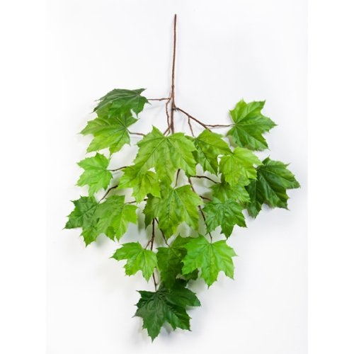 artplants Künstlicher Ahorn-Zweig Jakob, grün, 60 cm – Künstliche Blätter/Kunstzweig