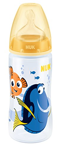 NUK Finding Dory First Choice+ 300ml Bottle with Silicone Teat 6-18 Months 41oVJHjTukL