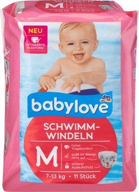 babylove Schwimm-Windeln Größe M, 7-13 kg, 11 St