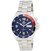 Orient 5 CEM65006DV Deep Pepsi - Reloj de buceo automático (esfera azul y negra, correa plateada)