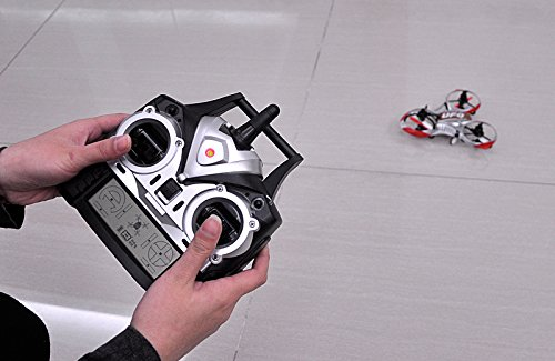 SHOPINNOV Mini Tricopter RC OVNI Invader Gyro 6-axis Frequence 2.4GHz 4 canaux - 4