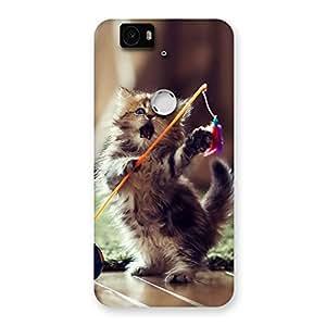 Gorgeous Dancing Cute Cat Back Case Cover for Google Nexus-6P