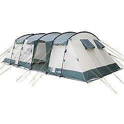Skandika Hurricane 12 - Tentede camping familiale tunnel - 12 personnes - 700x405 cm (Vert)