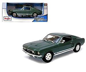 BBurago Maisto Francia - M31166 - Vehículo en miniatura - Ford Mustang GTA Fastback 1967 - Verde