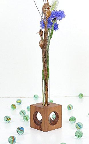 Tischvase Apfel mit Reagenzglasvase Blumenvase test tube vase