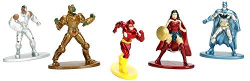 DC Comics 5er Pack - Nano Metalfigs 4cm Sammelfigur 98664 detailgetreue Gestaltung, aus hochwertigem Diecast-Metall, kleine Figur perfekt für jeden Sammler Womens Nano