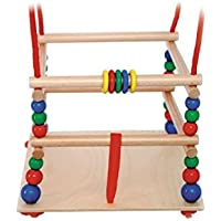 Hess Wooden Toddler Toy Swing with Protection Bars