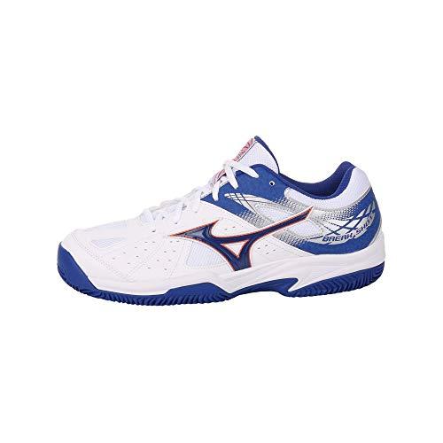 Mizuno Break Shot 2 CC, Scarpe da Tennis Uomo, Bianco (White/Reflex Blue/Nasturtium 27), 42.5 EU