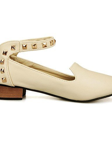 Chaussures Femme Shangyi - Mocassins - Formel - Pointu - Carré - Cuir - Noir / Rose / Rouge / Beige, Beige-us7.5 / Eu38 / Uk5.5 / Cn38, Beige-us7.5 / Eu38 / Uk5.5 / Cn38 Beige