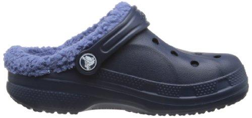 Crocs Baya Lined Kids, Sabots mixte enfant Bleu (Navy/Bijou Blue)