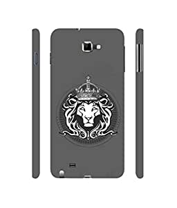Casotec Lion King Design 3D Printed Hard Back Case Cover for Samsung Galaxy Note
