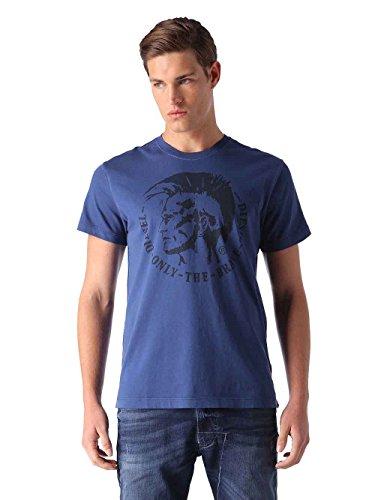 Diesel Herren T-Shirt Rundhals Kurzarm T-Ulysse (3XL, Blau)