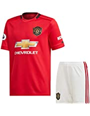 2019-20 Manchester United Home Jersey with EPL Patch/MANU Master Quality Football Jersey with Shorts/Imported Master Quality
