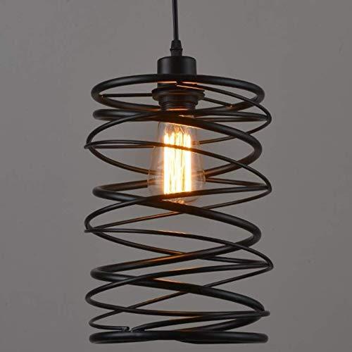BEANDENG Lámpara colgante de metal industrial, lámpara de araña ...