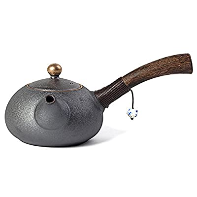 Théière New Design Japanese Style Teapots Ceramic Wood Handle Kung Fu Tea Sets Porcelain Ceramic Kettle Vintage Tea Service (en Anglais)