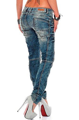 Cipo & Baxx - Jeans - Jambe droite - Femme Bleu Bleu Bleu - Bleu