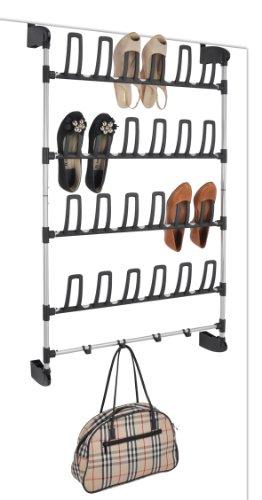 Türschuhregal Schuhregal 12Paar Schuhe Stahl Kunststoff 68,5x20x113,5 Regal