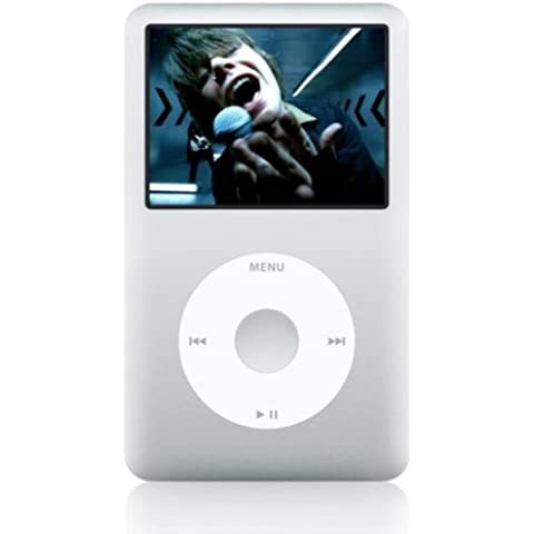 Apple iPod classic 80GB, Silver - Reproductor MP3 (Silver, Unidad de disco duro, Plata, LCD, Ión de litio, 320 x 240 Pixeles, AAC, AIFF, MP3,