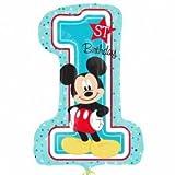 Amscan International 8.723.124,5cm Mickey Mouse 1. Geburtstag Super Form Folienballon Bouquet