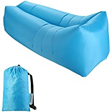 Sable Sofa Inflable, Portátil Impermeable Ligero Poliéster Aire Sofá Inflable Ocioso, Aire Cama Tumbona