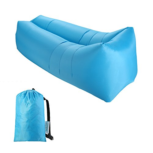 Sable Inflatable Air Lounger, Portable Air Sofa Couch with 2 Pockets, Waterproof Chair with Carry Lazy Bag for Camping, Beach, Backyard, Travelling, Hiking