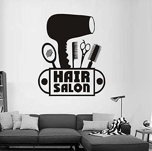 Pbldb forbici asciugacapelli pettine specchio adesivi murali in vinile per camera dei bambini nuova moda stickers murali per parrucchiere negozio decorazione della casa