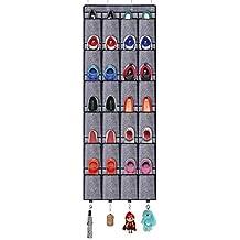 7c602cca3f00e homyfort Rangement des Chaussures à Suspendre Derrière de Porte - Chaussures  étagère 24 Poches