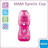Mam 66641422 Sports Cup Bicchiere con beccuccio, Bambino, Rosa, 330 ml