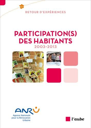 Participation(s) des habitants, 2003-2013
