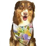 Osmykqe Hund Bandana Easter Eggs Lätzchen Trangle Kopftuch für Katzen Pupply Big Dog Soft