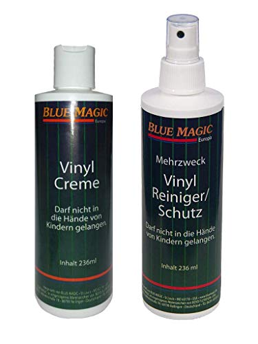 Preisvergleich Produktbild Set / Blue Magic 1 x Vinylreiniger 237 ml & 1 x Vinylcreme 236 ml