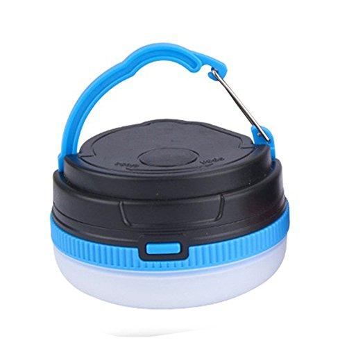 GEZICHTA Bettery LED-Camping-Lichter, batteriebetriebene Zelt-Lichter, batteriebetrieben, Tragbare LED-Camping-Lampe, Zelt-Lampe, Helligkeit, dimmbar und 5 Leuchtmodi, einstellbar, blau
