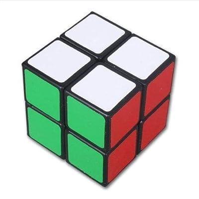 Qsewid 2x2 Noir Cube de vitesse Cube Magique