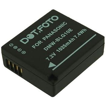 Panasonic DMW-BLE9, DMW-BLE9E, DMW-BLG10, DMW-BLG10E PREMIUM Replacement Rechargeable Camera Battery from Dot.Foto [See Description for Compatibility]