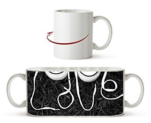 Love Sneaker Schnürsenkel Effekt: Schwarz/Weiß als Motivetasse 300ml, aus Keramik weiß, wunderbar...