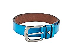 Swiss Design Blue Casual Leatherite Belt