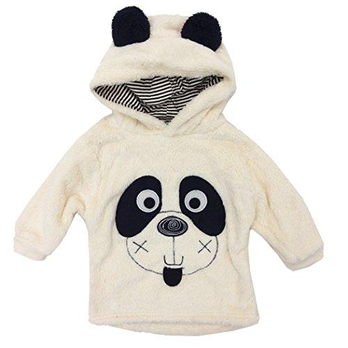 Nuovo Ragazzi a maniche lunghe ricamato animale Design Cappuccio Pullover In Pile Per Bambini Ragazzi Maglione Bambini renna, 1-5anni Panda 1-2 Anni