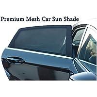 Premium Rete Auto Parasole copertura per finestra laterale posteriore |uv protection| blocchi riflesso del sole e permette un flusso aria fresca set di 2confezioni | facile installazione