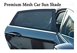 premium mesh car sun shades cover for rear side window uv protection blocks sun glare and. Black Bedroom Furniture Sets. Home Design Ideas