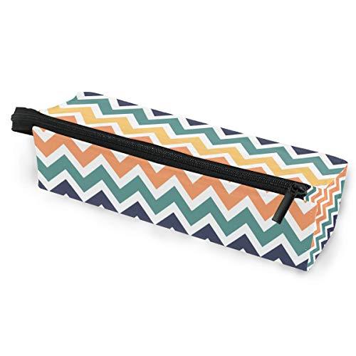 Sonnenbrillen Soft Protector Box Rhombus Federmäppchen Tasche Bunte Wellen Multifunktionstasche mit Reißverschluss für Studenten, Kinder, Teenager, Mädchen, Frauen, Männer, Jungen