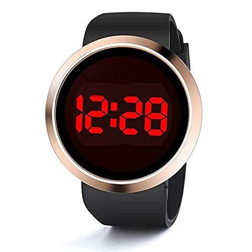 Frauen Uhren,Moeavan Damen Herren Unisex Digital LED Watch Clearance auf Verkauf Silikon Armbanduhr (Black)